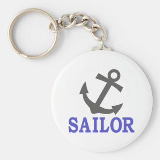 Sailor Anchor Key Ring