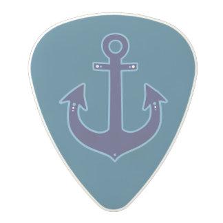 sailor anchor nautical blue polycarbonate guitar pick