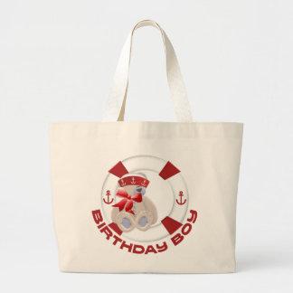 Sailor Bear Birthday Boy Jumbo Tote Bag