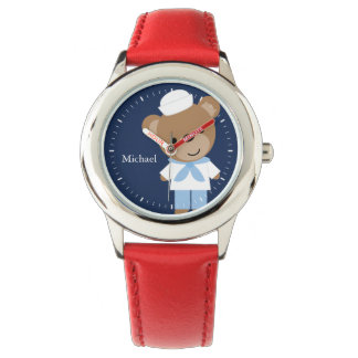 Sailor Bear Personalized Kid's Watches