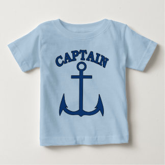Sailor Captain Blue Anchor Baby Boy T-shirt