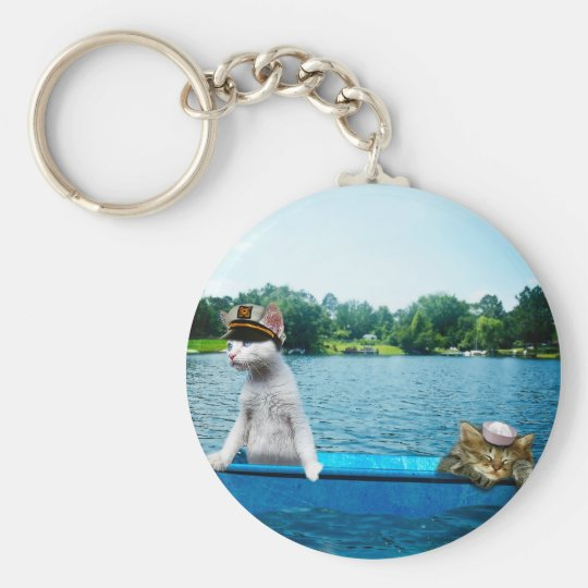 Sailor Cats Basic Round Button Key Ring