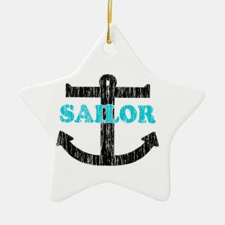 Sailor Ceramic Star Decoration
