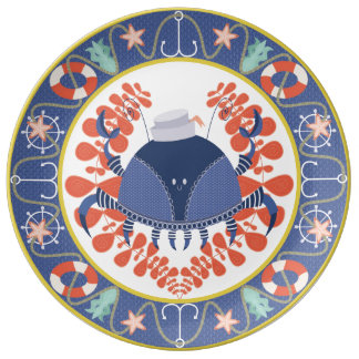 Sailor Crab Decorative Plate