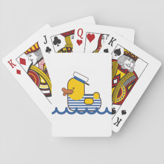 Sailor duck playing cards