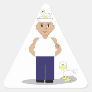 Sailor & Ducks Triangle Sticker