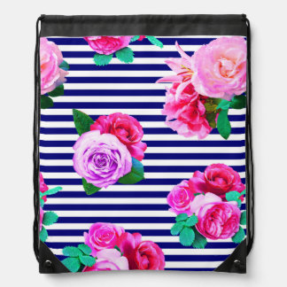Sailor girl drawstring bag