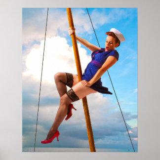 Sailor Girl Pinup Poster