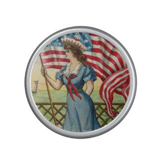 sailor girl - vintage nautical patriotic art speaker