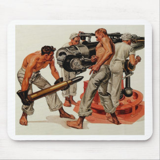 Sailor Hunks Loading the Big Gun Mouse Pad