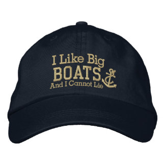Sailor I LIke Big Boats Baseball Cap