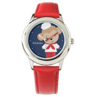 Sailor Monkey Personalized Kid's Wristwatch