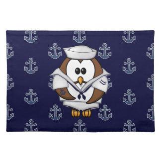 sailor owl placemat