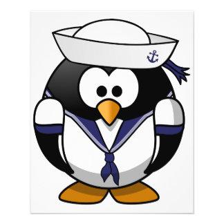 Sailor Penguin 11.5 Cm X 14 Cm Flyer