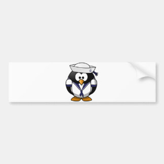 Sailor Penguin Bumper Sticker