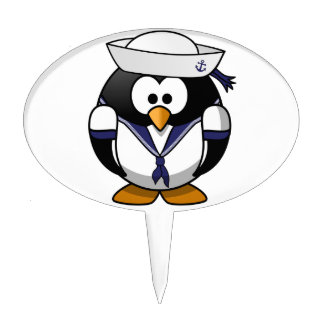 Sailor Penguin Cake Toppers