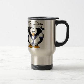 Sailor Penguin Travel Mug