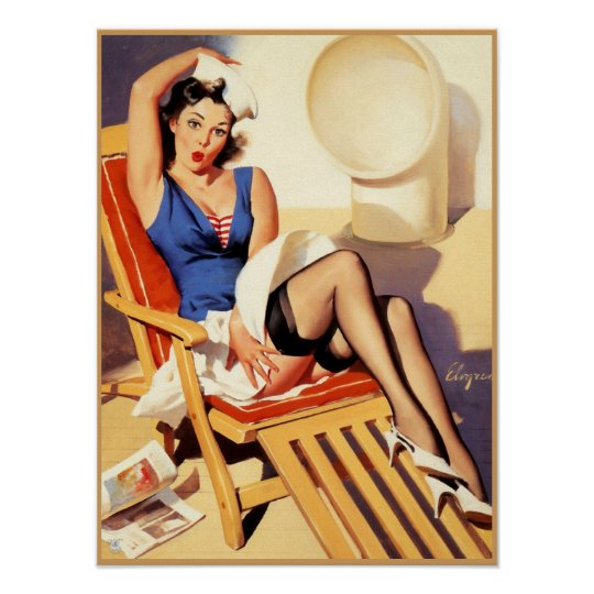 Sailor pin up #2 poster