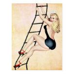 Sailor Pin up Girl Postcard