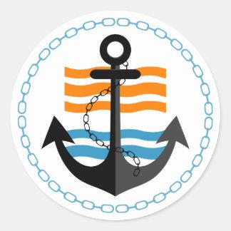 Sailor Sticker Round Sticker