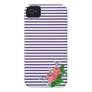 Sailor Stripes and Roses Case-Mate iPhone 4 Case