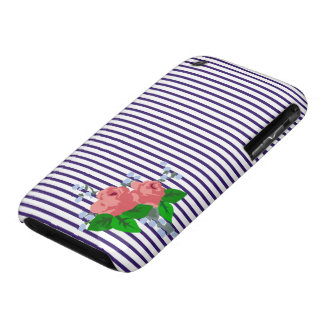 Sailor Stripes and Roses iPhone 3 Case