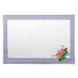 sailor stripes and roses placemat