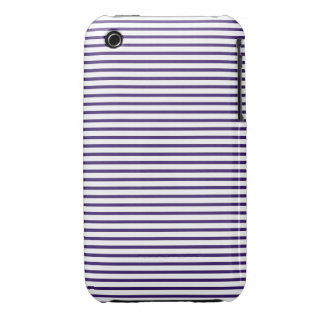 Sailor Stripes - Navy Blue and White iPhone 3 Covers