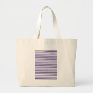 Sailor Stripes - Navy Blue and White Large Tote Bag