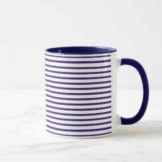 Sailor Stripes - Navy Blue and White Mug