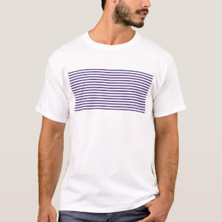 Sailor Stripes - Navy Blue and White T-Shirt