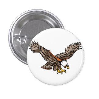 Sailor Tattoo Bald Eagle Button