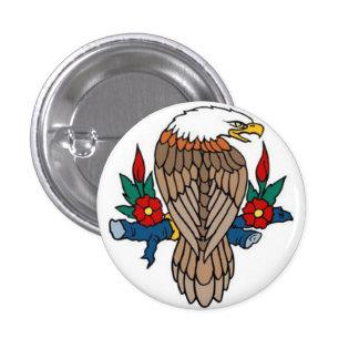 Sailor Tattoo - Bald Eagle II - Button