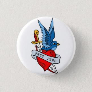 Sailor Tattoo - Free Bird - Button