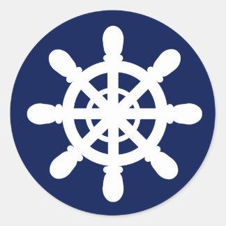 Sailor Wheel sticker blue