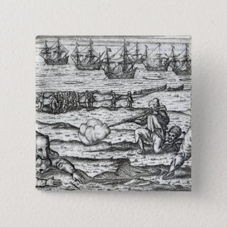 Sailors attacked by polar bears 15 cm square badge