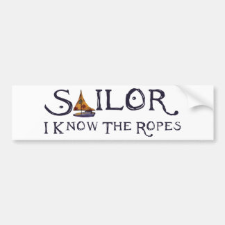 Sailors Boat Car Bumper Sticker