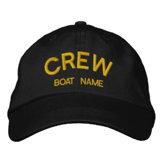 Sailors CREW & BOAT NAME Hat Embroidered Cap