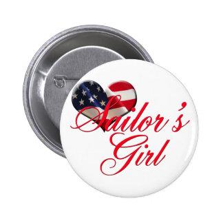 Sailor's Girl 6 Cm Round Badge