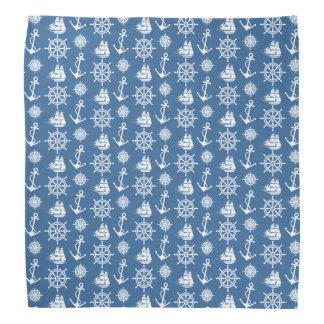 Sailor's Nautical Blue and White Pattern Bandana