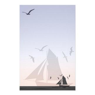 Sailors Sailboat Stationery