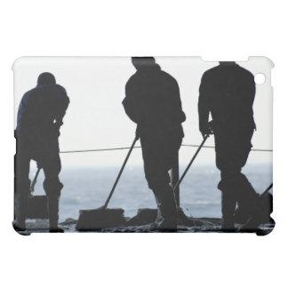 Sailors sweep out the hangar bay iPad mini cover