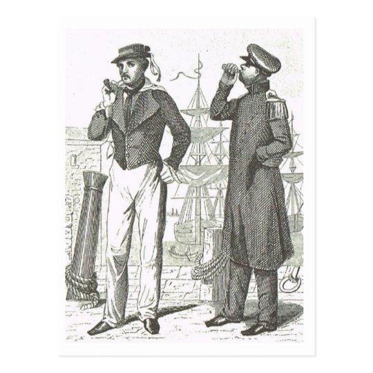 Sailors uniforms 1800s postcard