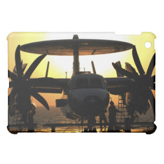 Sailors work on an E-2C Hawkeye aircraft iPad Mini Cover
