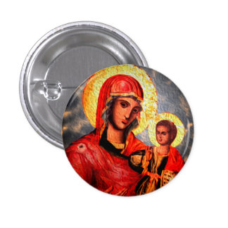 Saint 3 Cm Round Badge