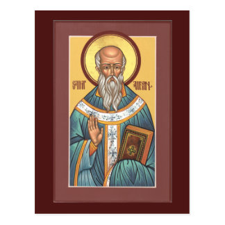 Saint Aidan Prayer Card Postcard