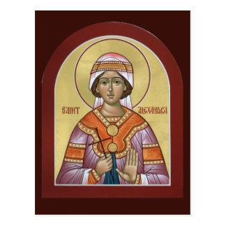 Saint Alexandra Prayer Card