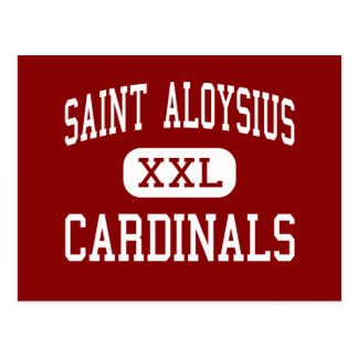 Saint Aloysius - Cardinals - High - Jersey City Postcard