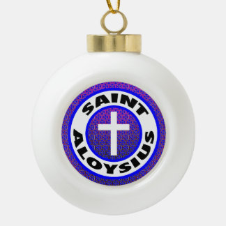 Saint Aloysius Ceramic Ball Christmas Ornament