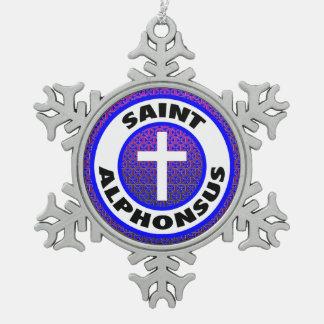 Saint Alphonsus Pewter Snowflake Decoration